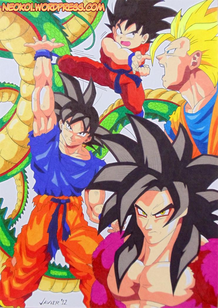 Dibujos De Goku Y Todas Sus Fases | apexwallpapers.com