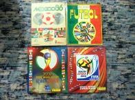 Álbums Mundial 86, 90, 2002 y 2010