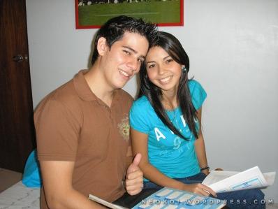 Jose y Daniela grabando en el año 2010