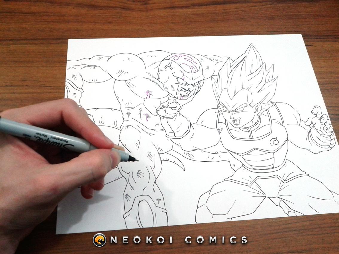 Golden Freezer Para Colorear: Goku Vs Broly Para Colorear