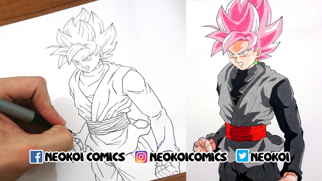 Parte Superior Imagenes De Black Goku Para Colorear