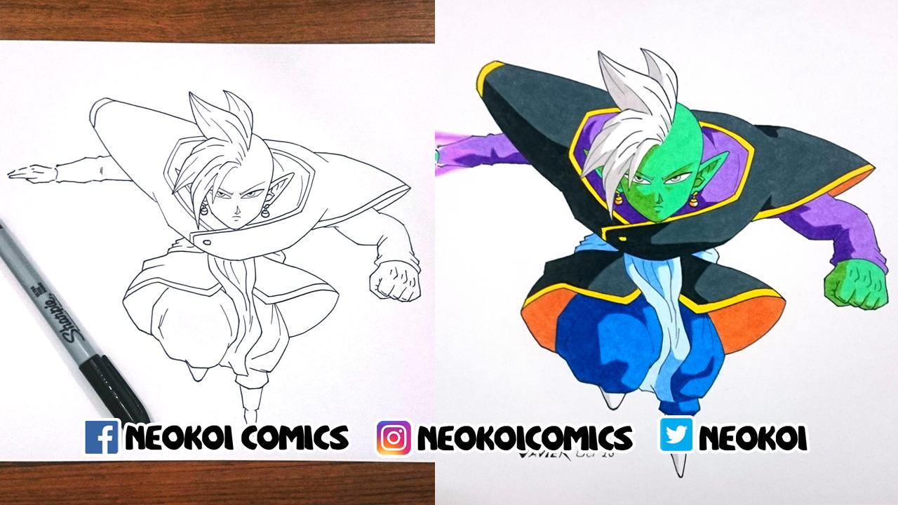 Drawing Zamas (Dragon Ball Super)